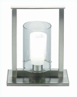 Lite Source 1 Lite Table Lamp PS with Double Glass Shade LS-3267PS-FRO
