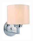 Lite Source 1 Lite Wall Lamp Chrome with Frost Glass Shade LS-16161