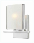 Lite Source 1 Lite Wall Lamp Chrome w/ Frost Glass Shade LS-16291C-FRO