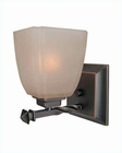 Lite Source Wall Lamp Copper Bronze Woven Glass Shade LS-16287CP-BRZ