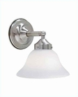 Lite Source 1 Lite Wall Lamp PS with Frost Glass Shade LS-11771PS-FRO