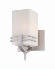 Lite Source 1 Lite Wall Lamp SS with Frost Glass Shade LS-16011SS-FRO