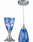 Lite Source Nucleus Table and Pendant Lamp Blue Glass LS-2248PS-BLU