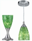 Lite Source 2 1 Table and Pendant Lamp PS Green Glass LS-2248PS-GRN