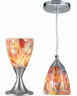 Lite Source Table and Pendant Lamp PS Mixed Glass LS-2248PS-MXD