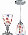 Lite Source Table and Pendant Lamp PS White Glass LS-2248PS-WHT