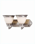2 Lite Vanity Wall Lamp PS w/ Frost Glass Shade Carter LS-16422PS-FRO