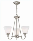 Lite Source 3 Lite Chandelier PS with Frost Glass Shade LS-19653PS-FRO