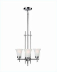 Lite Source 3 Lite Chandelier SS with Frost Glass Shade LS-19943SS-FRO