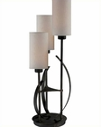Lite Source 3 Lite Table Lamp ant. Bronze Linen Godana LS-22150