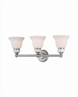 Lite Source 3 Lite Vanity Wall Lamp PS w/ Glass Shade LS-16403PS-FRO
