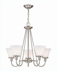 Lite Source 5 Lite Chandelier PS with Frost Glass Shade LS-19655PS-FRO