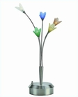 Lite Source 5 Lite Flower Table Lamp Multi Colored Glass LS-3977MULTI