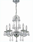 Lite Source 5 Lites Ceiling Lamp in Chrome Crystals LS-C71157
