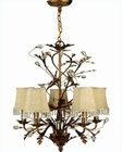 Lite Source 5 Lites Chandelier Wrought Iron w/ Prism Crystal LS-C7156