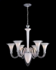 Lite Source 6-1 Lite Chandelier Frost with Clear Glass LS-19996