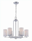 Lite Source 6 Lite Ceiling Lamp Chrome with Frost Glass LS-19626C-FRO