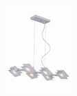 Lite Source 6 Lite Ceiling Lamp Silver Frost Clear Glass LS-19352SILV