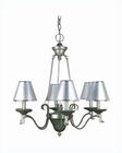Lite Source 6 Lite Chandelier Lamp with Silver Paper Shade LS-14656