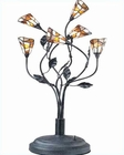 Lite Source 6 Lites Dark Rust w/ Tiffany Shade Epic Table Lamp LS-2781