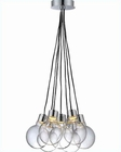 Lite Source 7 Lite Led Ceiling Lamp with Chrome Clear Glass LS-19227