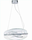 Lite Source 8 Lite Hanging Lamp Chrome Clear Glass Shade LS-19740C-CLR
