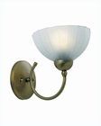 Lite Source Alani Bronze Frost Glass Wall Lamp LS-17151BRZ-FRO