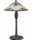Lite Source Antique Bronze Tiffany Moonstruck Table Lamp LS-3212