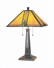 Lite Source Antique Bronze with Tiffany Shade Table Lamp LS-3767