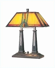 Lite Source Antique Bronze with Tiffany Shade Table Lamp LS-3782
