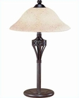 Lite Source Antique Rush with Scavo Glass Shade Table Lamp LS-3357H