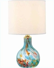 Lite Source Aqua Glass Body Table Lamp LS-20073AQUA