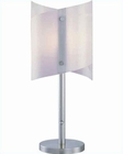 Lite Source Bat Table Lamp PS w/ 2 Piece Curved Glass LS-2500PS-FRO