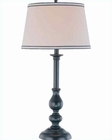 Lite Source Black Beige Fabric Shade Blaise Table Lamp LSF-21577