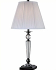 Lite Source Black Chrome Pleated w/ Sherine Table Lamp LS-22128