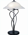 Lite Source Black Cloud with Glass Shade Table Lamp LS-3640BLK