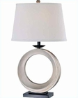 Lite Source Black w/ Silver Fabric Shade Modiale Table Lamp LSF-21440