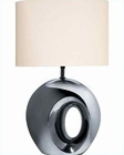 Lite Source Blk Chrome Finish with Oh Table Lamp LS-20142