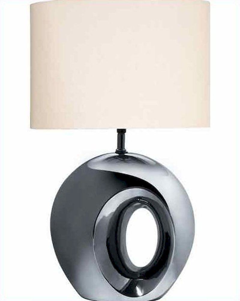 Lite Source Blk Chrome Finish With Oh Table Lamp Ls