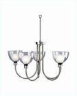 Lite Source Brella 5 Lite Ceiling Lamp w/ Frost Glass LS-10755SS-FRO
