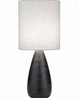 Lite Source Brushed Dark Bronze Linen Shade Quatro Table Lamp LS-2999