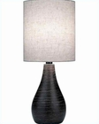 Lite Source Brushed Dark Bronze Linen Shade Table Lamp LS-2997