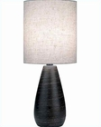 Lite Source Brushed  Brz. Linen Shade Mini Quatro Table Lamp LS-2998