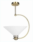 Lite Source Ceiling Lamp Antique Brass w/ Glass Shade LS-1942AB-FRO