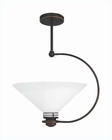 Lite Source Ceiling Lamp Copper Bronze w/ Glass Shade LS-1942CB-FRO