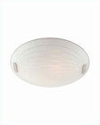Lite Source Ceiling Lamp Flush Mount PS w/ Frost Glass Shade LS-5434