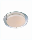 Lite Source Ceiling Lamp in Flush Mount Mirror w/ Glass Shade LS-5588