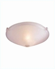 "Lite Source Ceiling Lite Flush Mount 12"" Dia. Glass Shade LS-5371FRO"