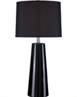 Lite Source Ceramic Table Lamp w/ Black Kenneth LS-22130BLK-BLK