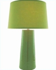 Lite Source Ceramic Table Lamp with Green Fabric Shade LSF-20830GRN